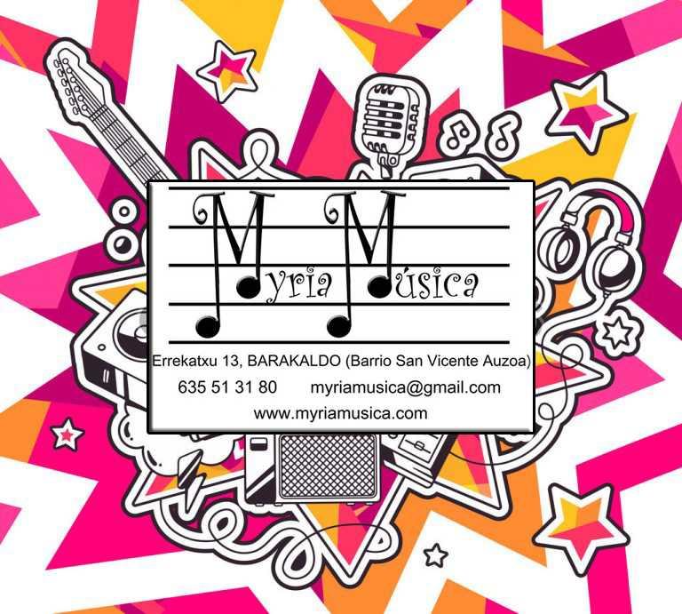 Clases de música en Barakaldo Myriamusica: Matricula abierta
